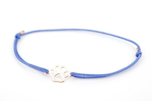 Armband Pfote Rosegold Pfotenabdruck Tatze Hund Katze Tiere kaufen Shop Glücksarmband Make a wish Damen Geschenk Liebe