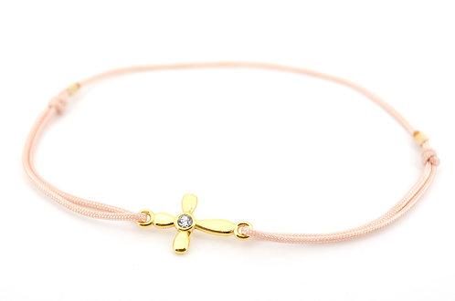 Armband S Kreuz Gold