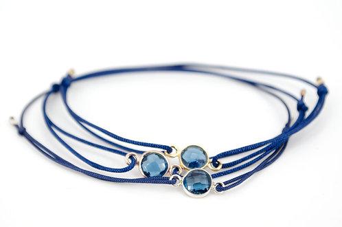 Armband Schmuck kaufen online Gold Rosegold Silber blau Topas Dunkelblau Navy Shop Freunde Geschenk Familie Liebe