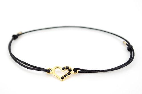Armband Herz Schwarz Swarovski Damen kaufen online Shop Schmuck