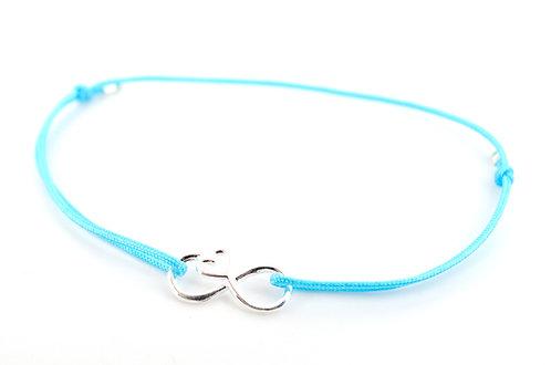 Armband Infinity Unendlichkeitszeichen Silber Geschenk Liebe Damen Schmuck Herz