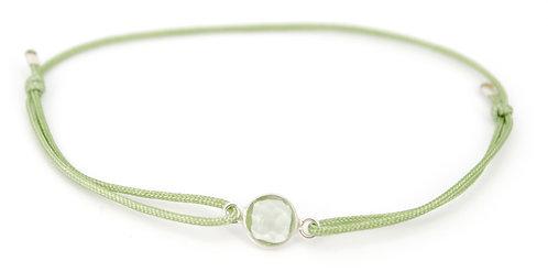 Armband Grün mit Chalcedon und Schiebeknoten