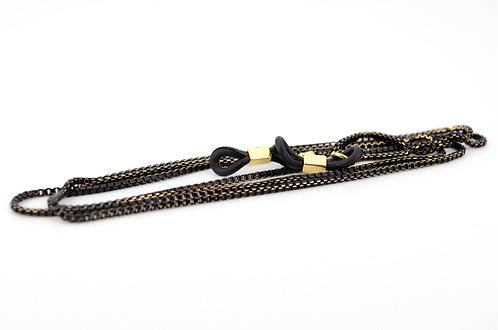 Brillenkette-schwarz-gold