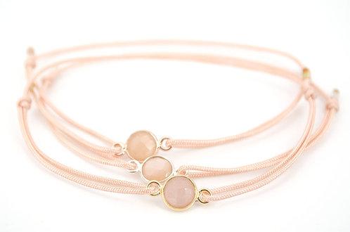 Armband Stein Mondstein Schmuck kaufen online Shop Gemstone Edelstein Quarz Gold Roségold Silber Rose Rosegold Rosa Gelb