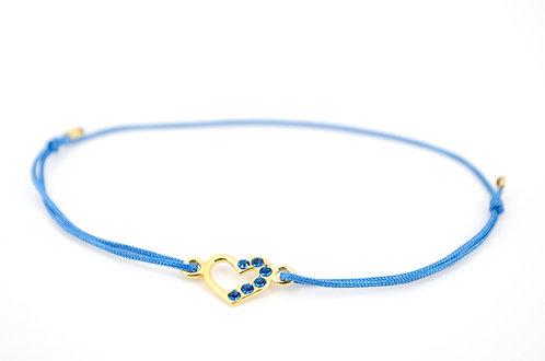 Armband Schmuck Swarovski Herz Blau Gold Damen online shop