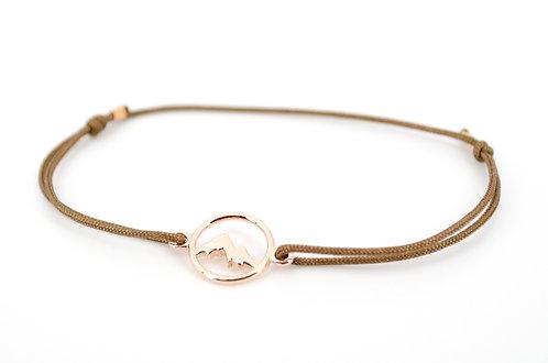Armband Handmade kaufen Berge Online Shop Damen mit Schiebeknoten perfektes Geschenk der Berg ruft Rosegold