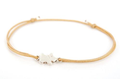 Armband Hund Silber Glücksarmband make a wish Band kaufen Damen Tiere Geschenk