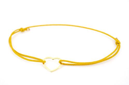 Armband Herz Gold Dünn Schnur Faden Filigran Glücksarmband Schmuck kaufen