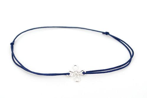 Armband Blume CZ Silber mit Schiebeknoten kaufen online Shop Damen Geschenk