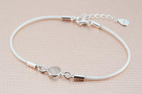 armband handmade ruson mit weißem nylonband