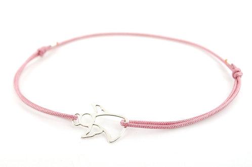 Armband 925 Sterling Silber kaufen online Shop Schmuck Engel Schutzengel Schiebeknoten Freundschaftsarmband Geschenk