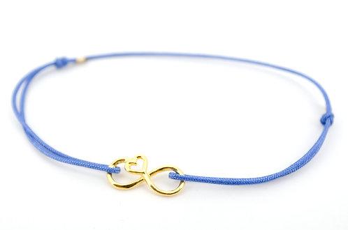 Armband Infinity Unendlichkeitszeichen Gold Geschenk Liebe Damen Schmuck Herz