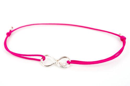 Armband Infinity Silber Herz Unendlichkeitszeichen make a wish Freundschaftsarmband Schmuck