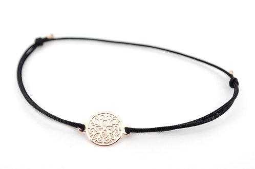 Armband Ornament Rosegold Blume Kreis handgemacht Schmuck für Damen Sterling Silber kaufen online
