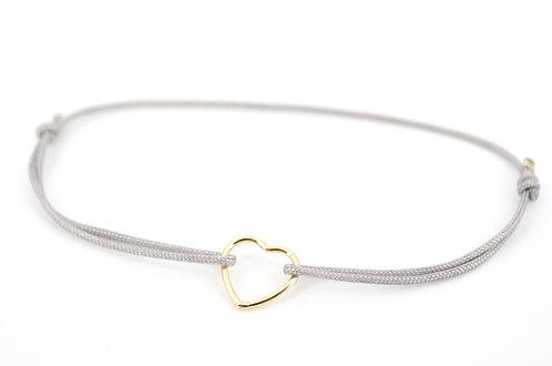 Armband Herz Fil Gold Schmuck kaufen online Schiebeknoten Geschenk Damen