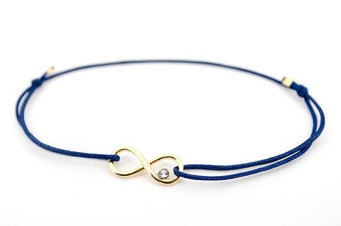 Armband Infinity Gold Swarovski Stein Kristall Unendlichkeitszeichen Schmuck Handmade kaufen online
