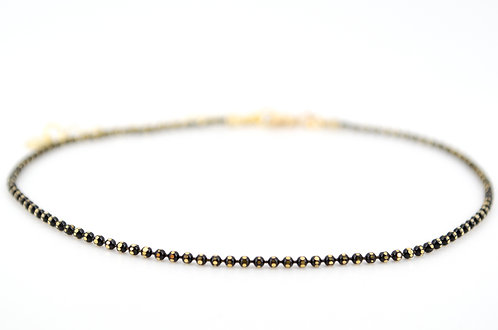 Fußkettchen Sweety XS Gold Schwarz Kugelkette Schmuck für Sommer modisches Accessoires