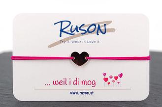 armband schmuck kaufen online herz liebe dich mögen mag dich herz geschenk handgemacht pink