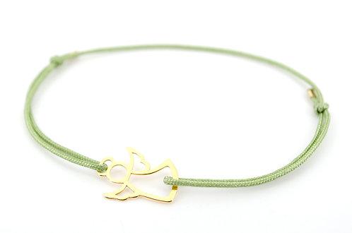 Armband Engel Schutzengel online kaufen Shop Schmuck Accessoires Gold mit Schiebeknoten Geschenk für Freunde Familie
