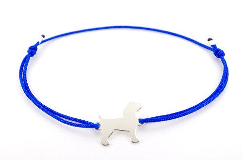 Armband Hund Schmuck kaufen online Shop silber Sterling 925 blau schwarz rot Damen Geschenk Hund Hunde Tiere Pfote Pfoten