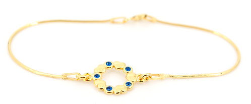 Armkettchen Gold Swarovski Schlangenkette