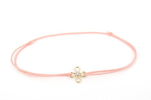 Armband Blume CZ Gold Schmuckstein Zirkonia Damen Liebe Geschenk Handmade