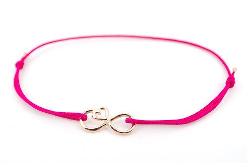 Armband Infinity Unendlichkeitszeichen Rosegold Geschenk Liebe Damen Schmuck Herz