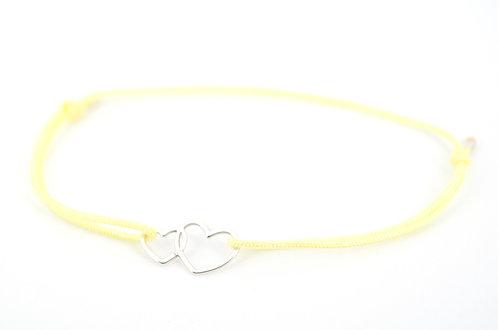 Armband Doppeltes Herz Doppelherz Silber kaufen online Shop Damen 925 Sterling Silber Schmuck Herz Accessoires Geschenk