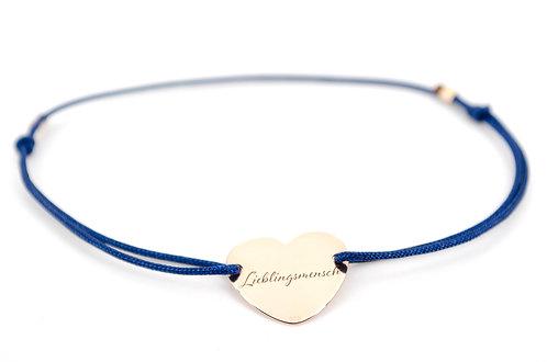 Armband Gravur Herz Lieblingsmensch Rosegold Schmuck kaufen online shop Liebe Geschenk Liebling Damen blau schwarz rot grau
