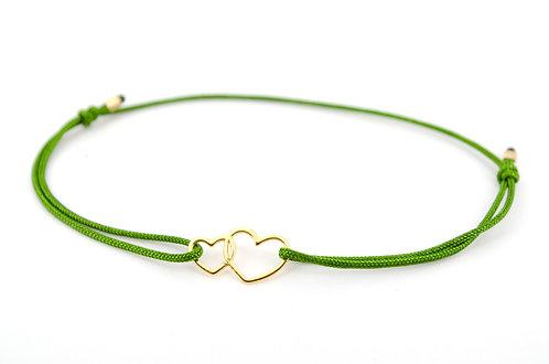 Armband Doppeltes Herz Damen kaufen online Shop Herzen doppelt Doppelherz Schmuck Accessoires Handmade