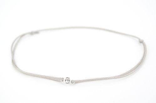 Armband Silber Swarovski Grau