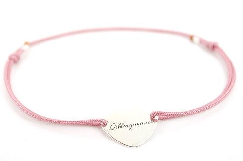Armband Schmuck online kaufen Sterling Silber 925 Lieblingsmensch Herz Liebe Geschenk Rosa