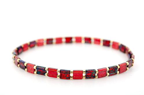 Armband Damen rot kaufen online Shop Gold Perlen Schmuck Geschenk Liebe