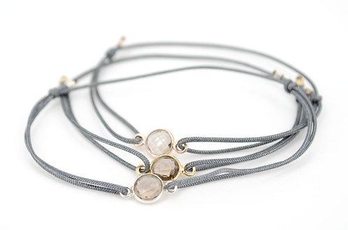 Armband Schmuck Schmuckstein Swarovski kaufen online Stein Rauchquarz Quarz Gold Roségold Silber Damen Geschenk individuell