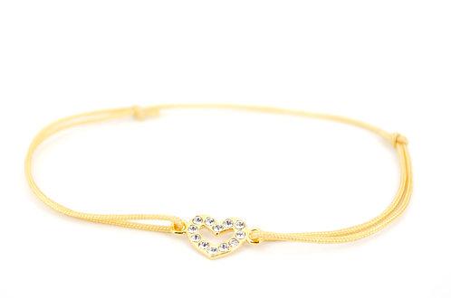 Armband Herz Gold Swarovski Kristall online Shop Schmuck Damen kaufen Weihnachten Geschenk