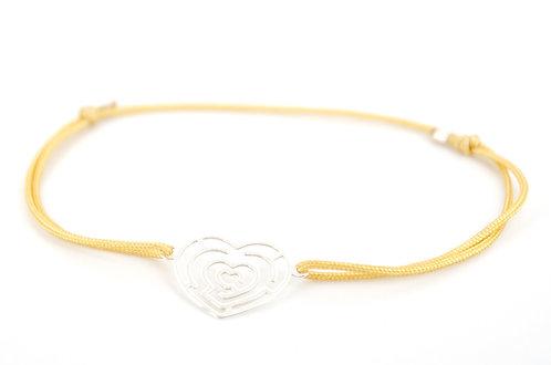 Armband Herz Labyrinth Silber 925 Sterling Damen kaufen Handmade Liebe Geschenk