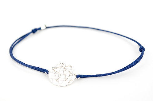 Armband Globus Schmuck Damen 925 Sterling Silber Geschenk