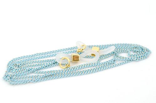 Brillen- und Maskenkette Ovalon Hellblau