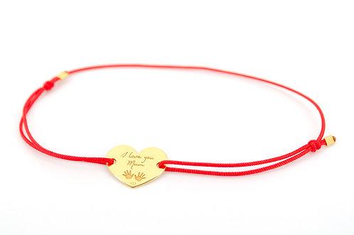 Armband Gold Gravur I love you Mum Mom Mama Liebe Schmuck Damen Mutter Muttertag Geschenk