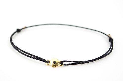 Armband S Blume Gold Schwarz