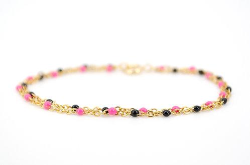 armkettchen-gold-schwarz-rosa