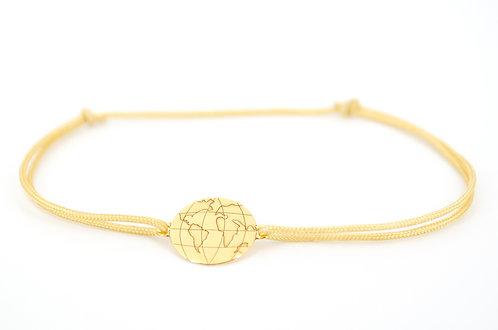 Armband Globus Erdball Erdkugel kaufen Schmuck online Shop Gold