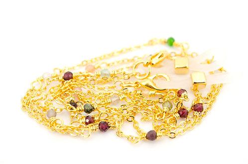 Brillenkette Kette Gold Edelsteine Damen Schmuck online kaufen Shop Brillenhalterung Sonnenbrille Band