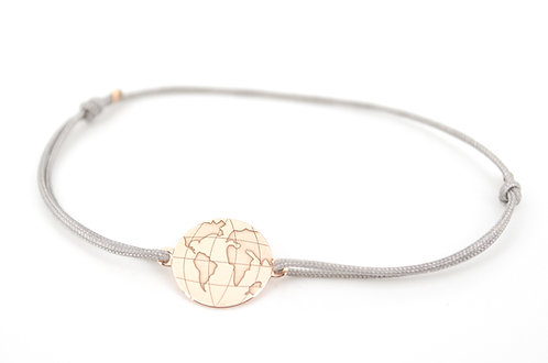 Armband Globus Erdkugel Erdball Schmuck Rosegold Schiebeknoten Geschenk kaufen