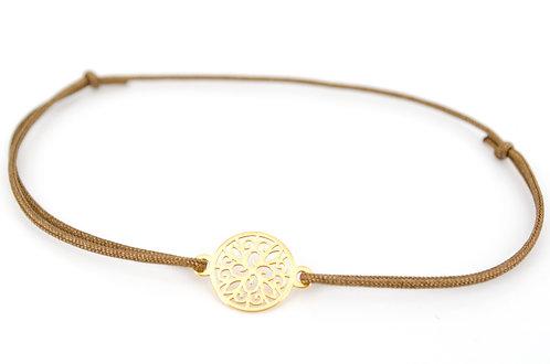 Armband Ornament Gold Blume Kreis Schmuck für Damen Sterling Silber kaufen online