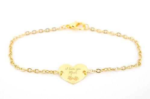 Armkettchen I love you Mum Gold