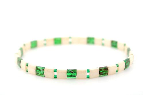 Armband Grün Beige Damen kaufen online Shop Schmuck Tila Perlen