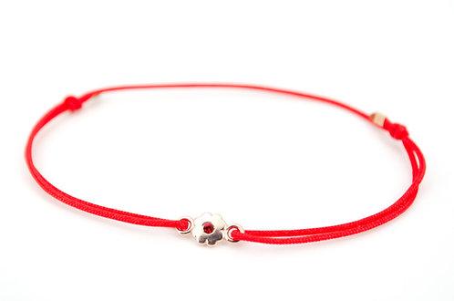 Armband S Blume Rosegold Light Siam
