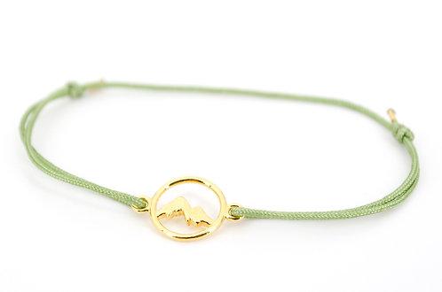 Armband Handmade kaufen Online Shop Berge Damen Gold mit Schiebeknoten aus 925 Sterling Silber Schmuck