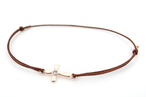 Armband S Kreuz Rosegold